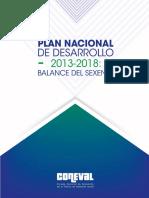 PND 2013 2018 Balance Del Sexenio