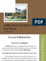 52. Green Roof Briefing to Council