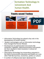 Role of Information Technology in Enviro