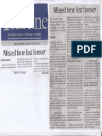 Daily Tribune, Mar. 28, 2019, Missed time lost forever.pdf