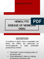Hemolytic Disease of Newborn