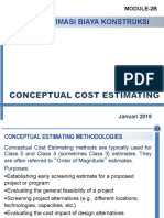 SI-4152 Estimasi Biaya - Conceptual Cost Estimation (Week-2b) - 2016