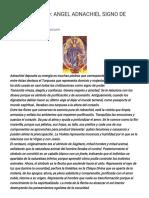 Espiritualidad_ Angel Adnachiel Signo de Sagitario