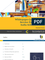 Whitepaper on Current Status of Service Export From India Scheme (SEIS) by Blue Consulting (January'19)