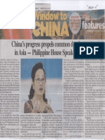 Philippine Star, Mar. 28, 2019, China's progress propels common development in Asia - Philippine House Speaker Arroyo.pdf