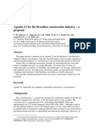 Agenda 21 for the Brazilian construction industry – a proposal