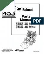 Bobcat 453 Skid Steer Loader Parts Catalogue Manual SN 515011001 and Above.pdf