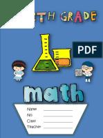 4th Grade Math Notebook Spring Semester 2019