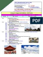 Itinerary BKP-04 Apr - Oct'18 (THB)