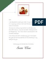 Letter From Santa 1