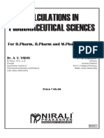 Calculations in Pharmaceutical Science's