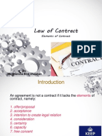 2 Law of Contract - Definition Element of Offer