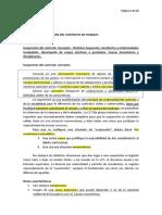 SUSPENSION Y EXTINCION DEL CONTRATO DE TRABAJO