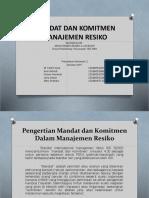 Ppt Mandat Dan Komitmen Manajemen Resiko