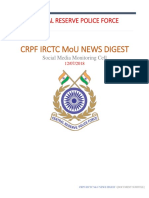 Crpf Irctc Mou News Report-2