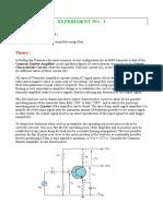Analysis of BJT Amplr