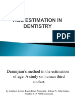 Age Estimation in Dentistry