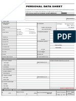 CS Form No. 212 Revised Personal Data Sheet 2 NEW FORM