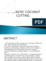 Automatic Cocunut Cutting