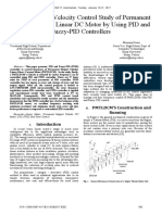 A Comparative Velocity Control Study of Permanent