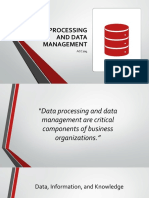 Data Processing and Management