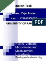 Fajar Imaya English Task