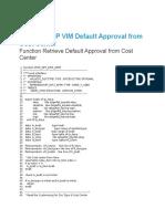 SAP VIM Default Approval