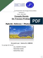 Compte Rendu Tp énergie éolienne