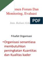 Manajemen Forum Dan Monitoring, Evaluasi.pptx
