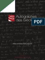 Catalogue Autographes des Siècles Salon Livre Rare