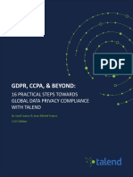 Gdpr Ccpa Beyond 16 Practical Steps Towards Global Data Privacy Compliance With Talend