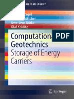 Computational Geotechnics Storage of Energy Carriers