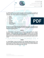 Carta de Presentacion AGENCIA DE CASTING