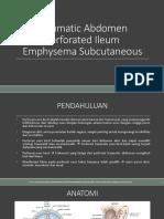 Traumatic Abdomen Perforated Ileum Emphysema Subcutis