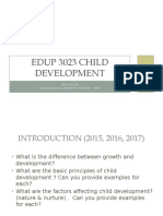 EDUP 3023 Child Development - Revision