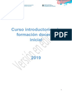 Curso Introductorio a la Formación docente inicial