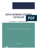 Data Science Course Catalog