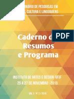 Caderno de Resumos e Programa Site UFJF