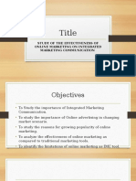 STUDY OF THE EFFECTIVENESS OF ONLINE MARKETING ON INTEGRATED MARKETING COMMUNICATION.pptx