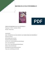 PSIKOLOGI PERKEMBANGAN DAN PENDIDIKAN PENGARANG DR. KH. U. SAEFULLAH, M.M.Pd PENERBIT PUSTAKA SETIA.docx