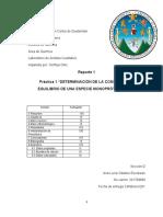 Reporte DETERMINACIÓN DE LA CONSTANTE DE EQUILIBRIO DE UNA ESPECIE MONOPRÓTICA DÉBIL
