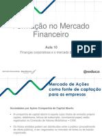 Finanças Corporativas e o Mercado de Ações