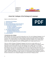 About the Catalogue of Endangered Languages Universidad de Hawai