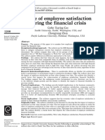 Value of Employee Satisfaction During the Financial Crisis Cao Et Al 2016
