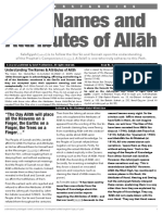 Salafiyyah Newsletter Issue 3 Names and Attributes FINAL