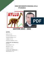 Plan de Gobierno Movimiento Regional Ayllu Pitumarca