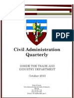 Inside the Trade and Industry Office - Civil Administration Quarterly (October 2010)