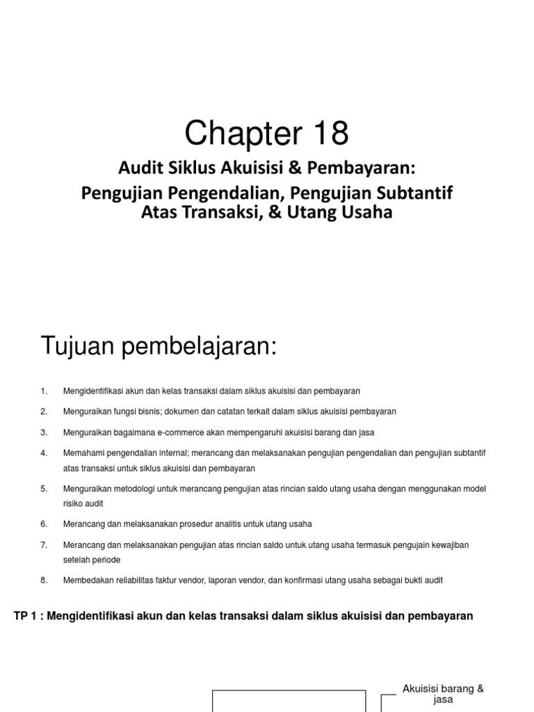 Ringkasan Chapter 18 Audit 2