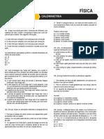 Lista 03 - Calorimetria