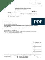 IGCSE pass paper
